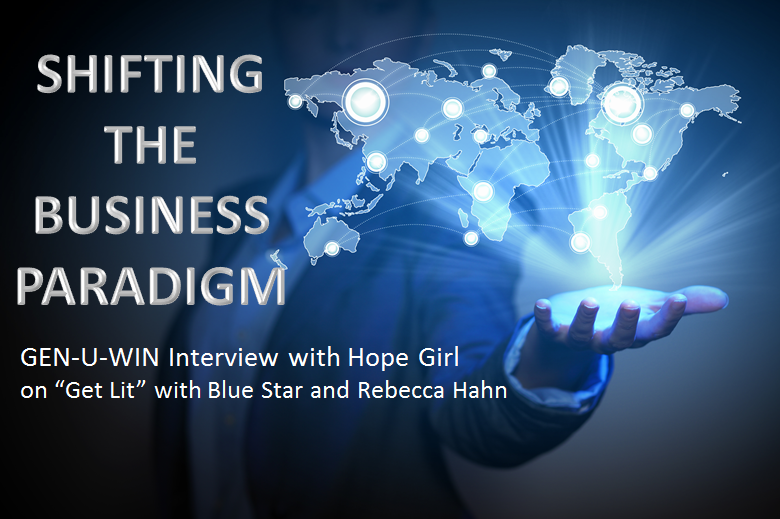 "Shifting the Business Paradigm: HopeGirl Interview on ""Get Lit"" with Blue Star Deerwoman and Rebecca Hahn ."