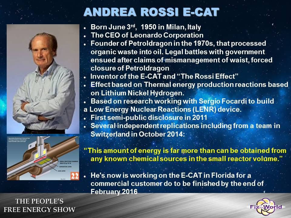 andrea-rossi-ecat Free Energy Mafia and the Dirty Games They Play.