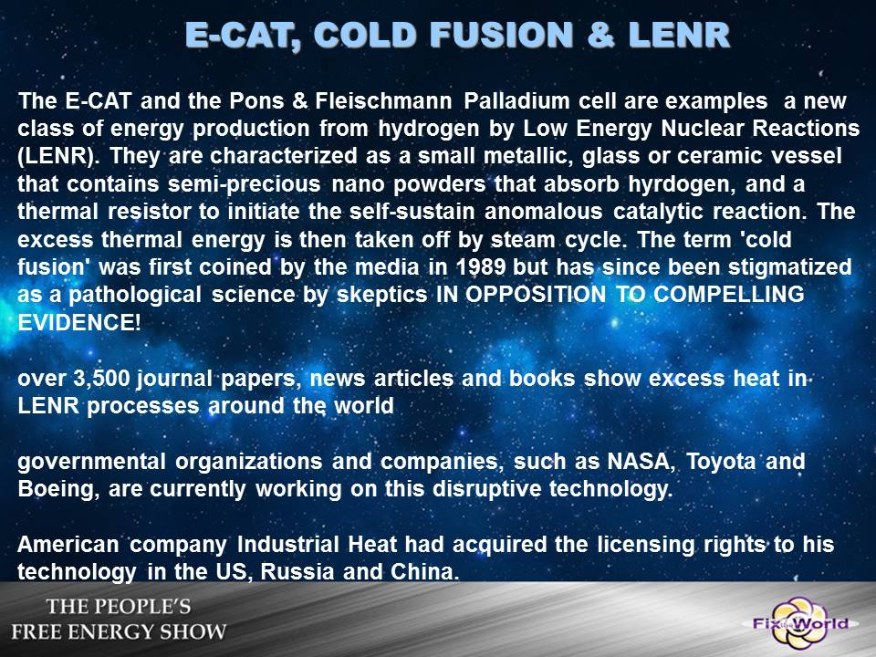 ecat-cold-fusion-lenr-2 Free Energy Mafia and the Dirty Games They Play.
