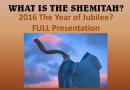 What is the Shemitah? Full Presentation (Video)
