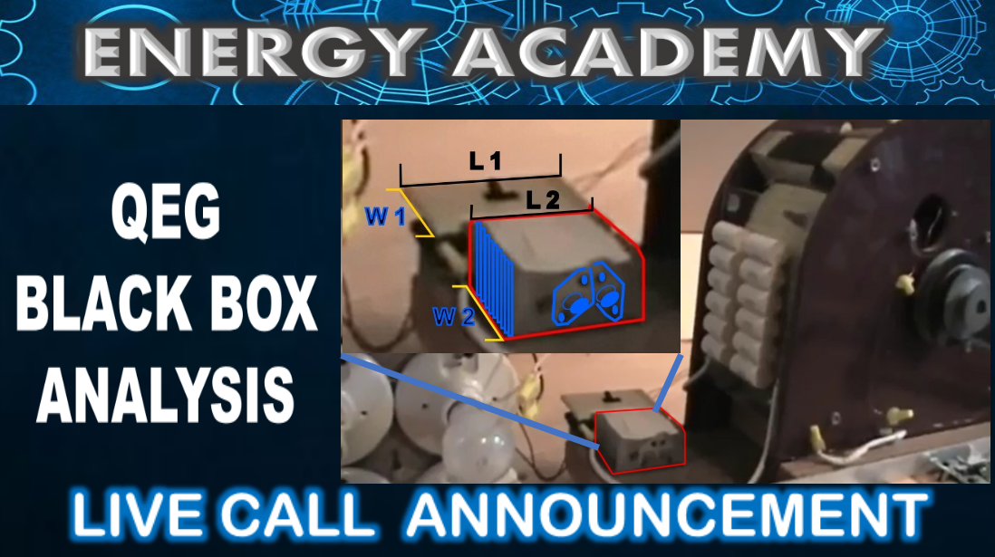 Whats in the QEG Black Box? Full Analysis on a Live Academy Call this Sunday!