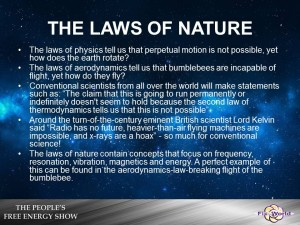 The laws of nature free energy