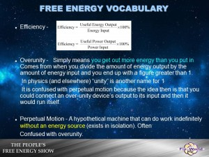 efficiency overunity perpetual motion