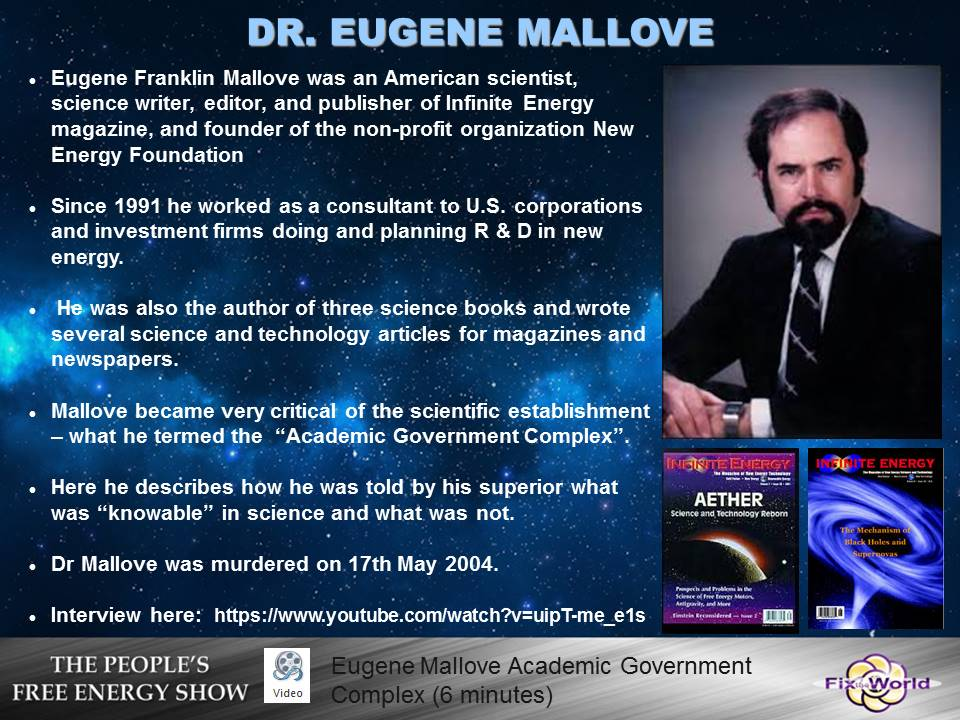 eugene-mallove Free Energy Mafia and the Dirty Games They Play.