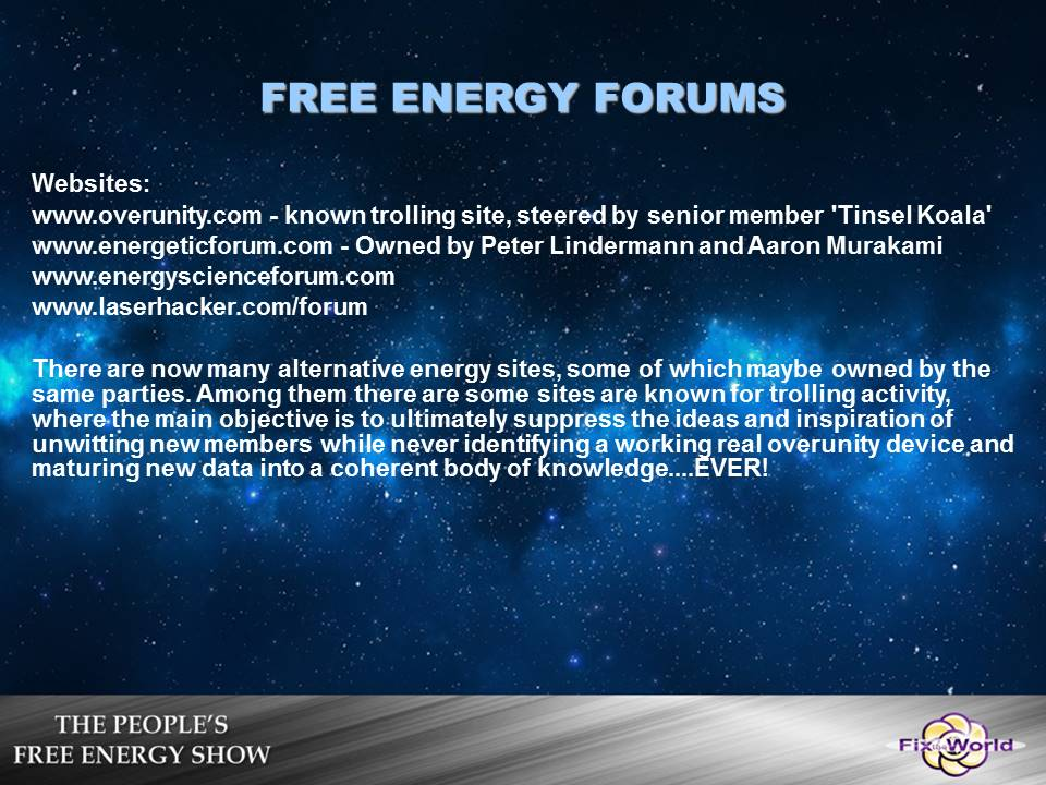 free-energy-forums Free Energy Mafia and the Dirty Games They Play.