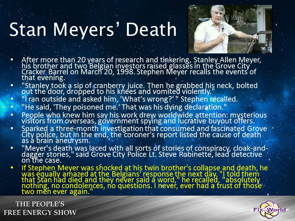 stan meyers death