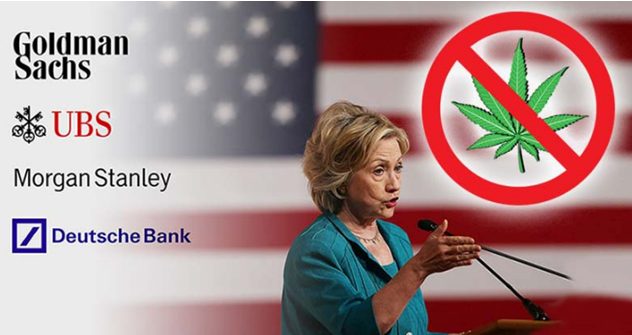 "In leaked speech, Clinton promises Bankers to stand against Marijuana legalization ""in all senses of the word"""