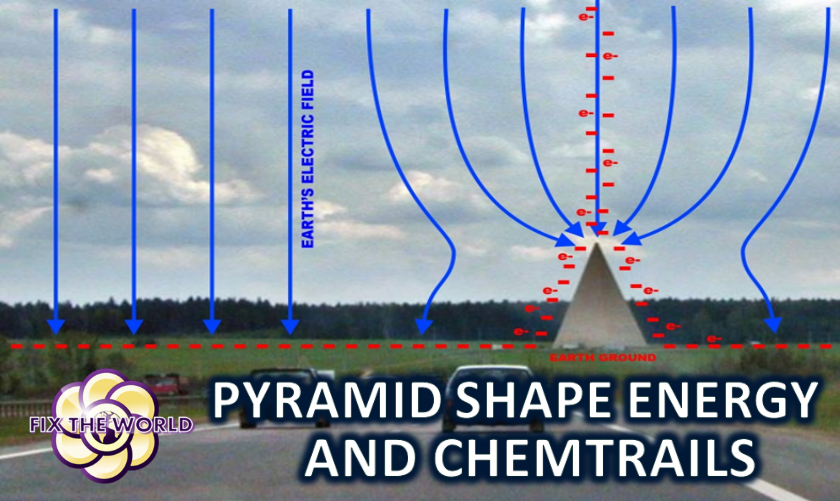 Pyramid Shape Study and Chemtrails