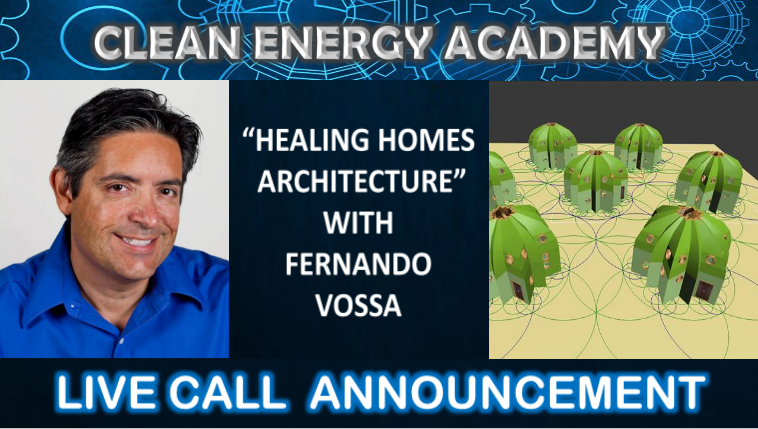 Live Call 8 Guest Speaker discusses the Vossahedron, a new, sustainable architecture