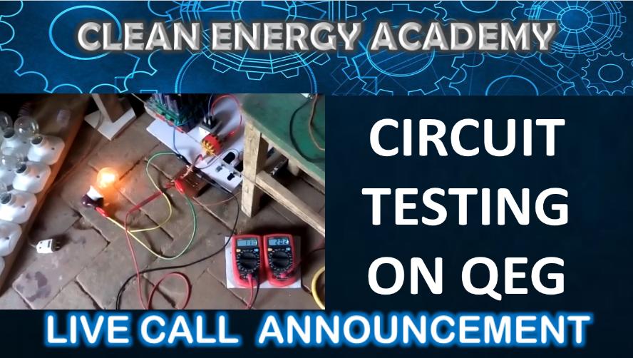 Circuit Testing on QEG Live Call August 26, 2018