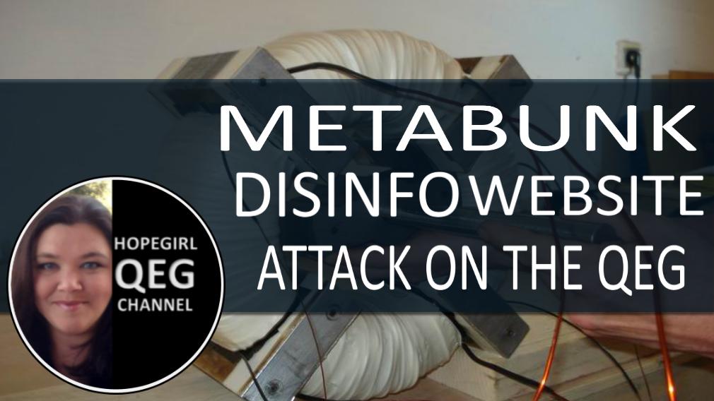 Metabunk.org Disinfo Attack on QEG Hopegirl