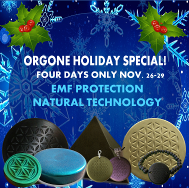 Orgone Holiday Special. New Video and 4 Day Sale.
