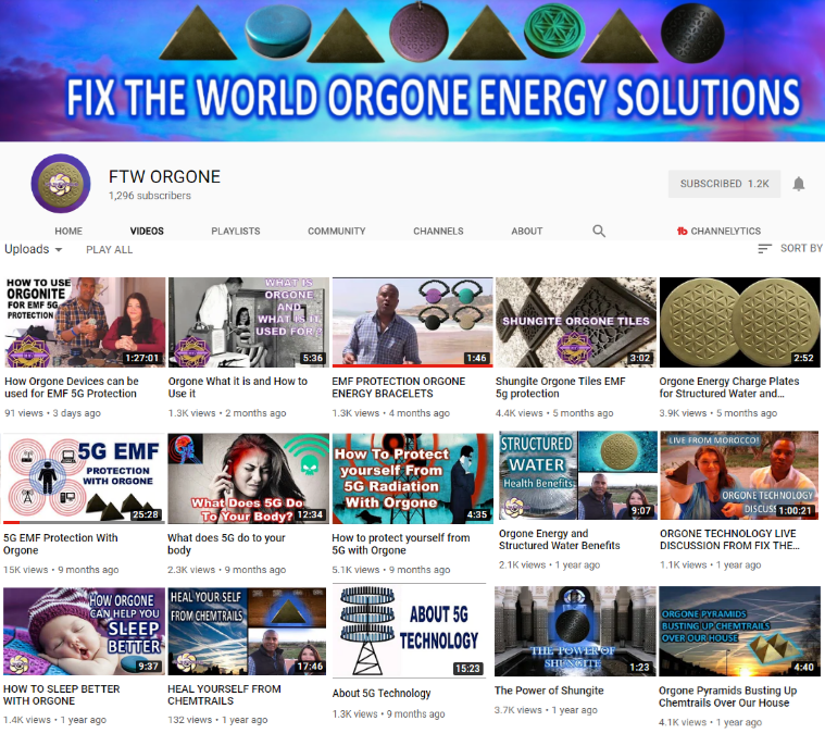 ftw-orgone-youtube-channel Fix The World Updates for 2019