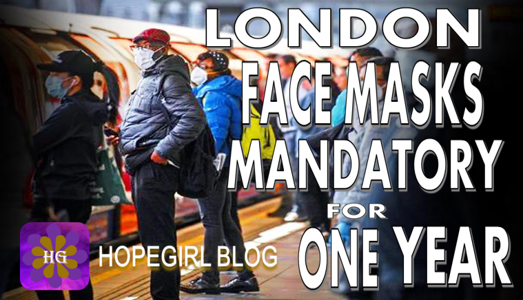 London Mandatory Face Masks For One Year