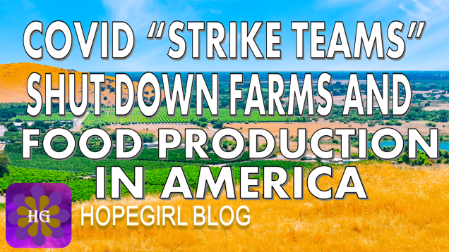 """Covid """"Strike Teams"""" Shut Down Farms and Food Production in America"""
