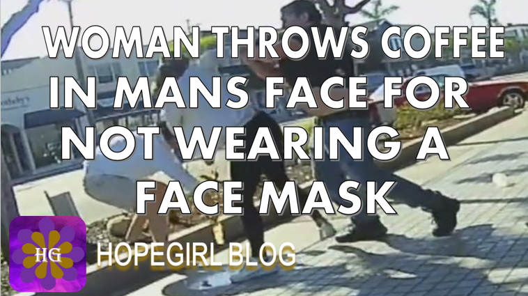 Woman Throws Coffee in Mans Face For Not Wearing a Face Mask