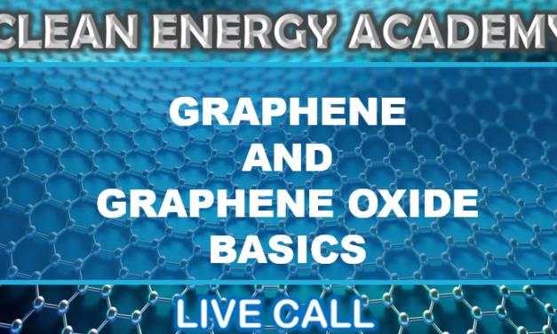 Graphene and Graphene Oxide Basics Live Call This Sunday